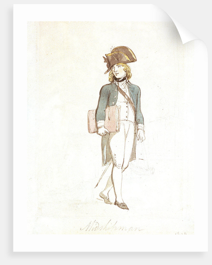 Midshipman by Thomas Rowlandson