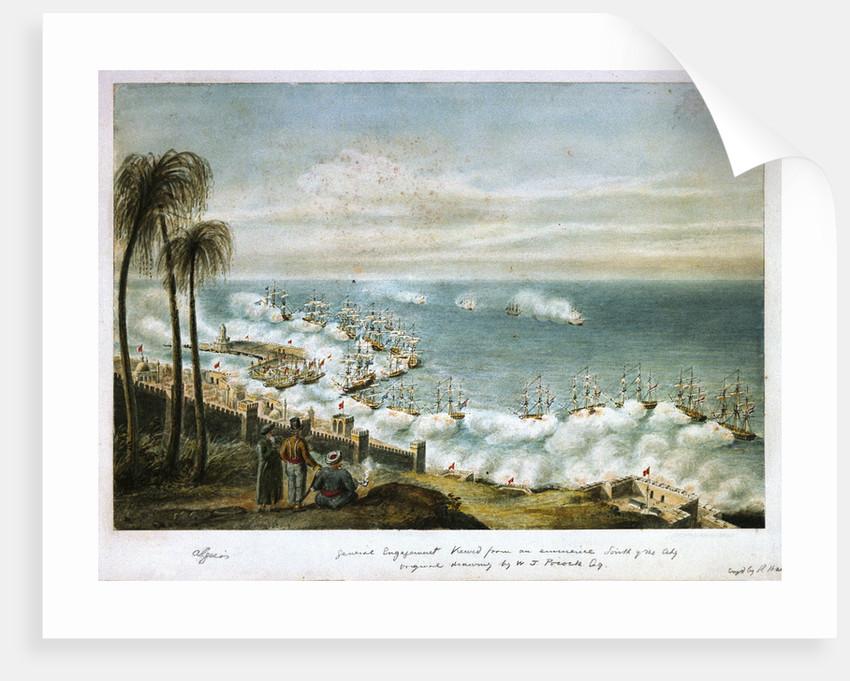 Bombardment of Algiers, 1816 by William Innes Pocock