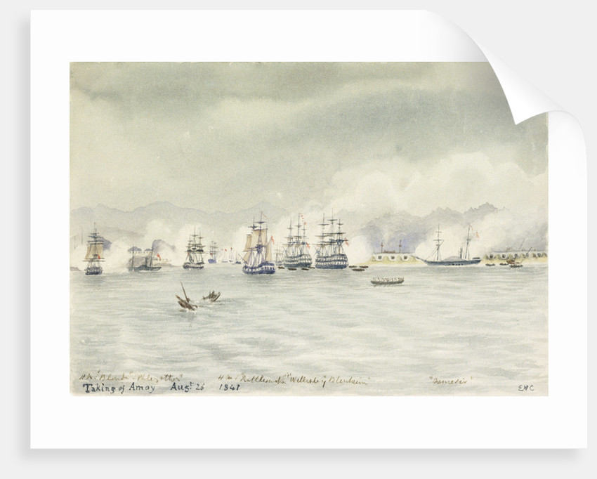 Taking of Amoy, August 26 1841 by Edward Hodges Cree