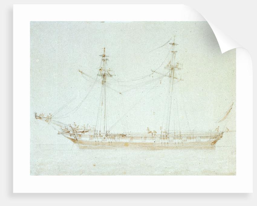 The brig 'Wasp' by John Cantiloe Joy
