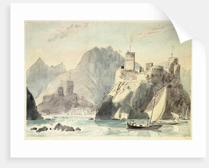 Castles of Jellati & Merani at Muscat by Charles Hamilton Smith
