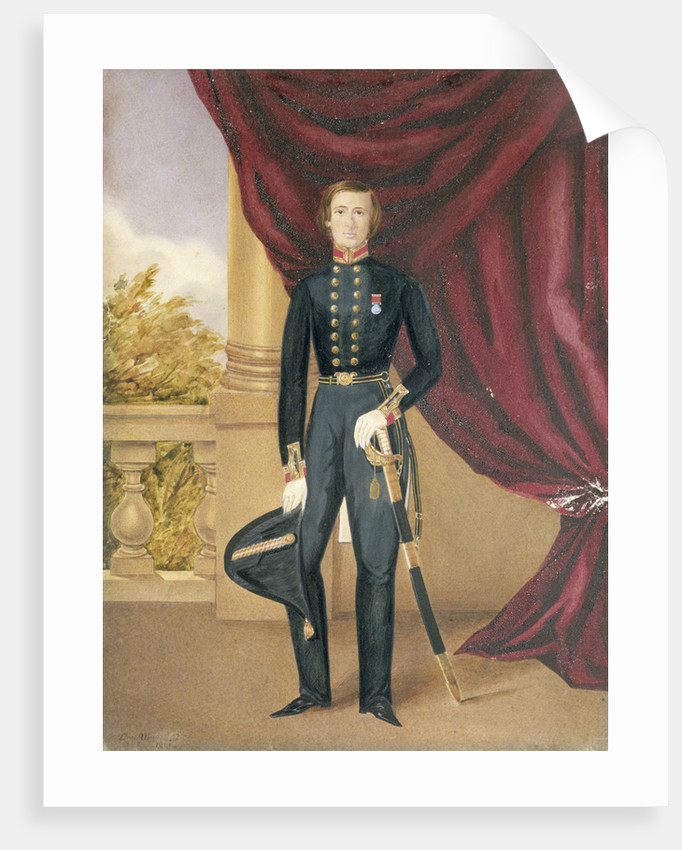 Frederick Marryat, RN, (son of Captain Marryat the author) June 1842 by R. H. C. Ubsdell