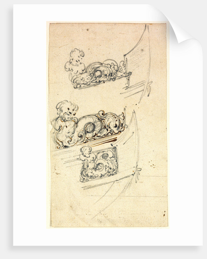 Decoration of the head (for a yacht to be built for the Van de Veldes) by Willem Van de Velde the Younger