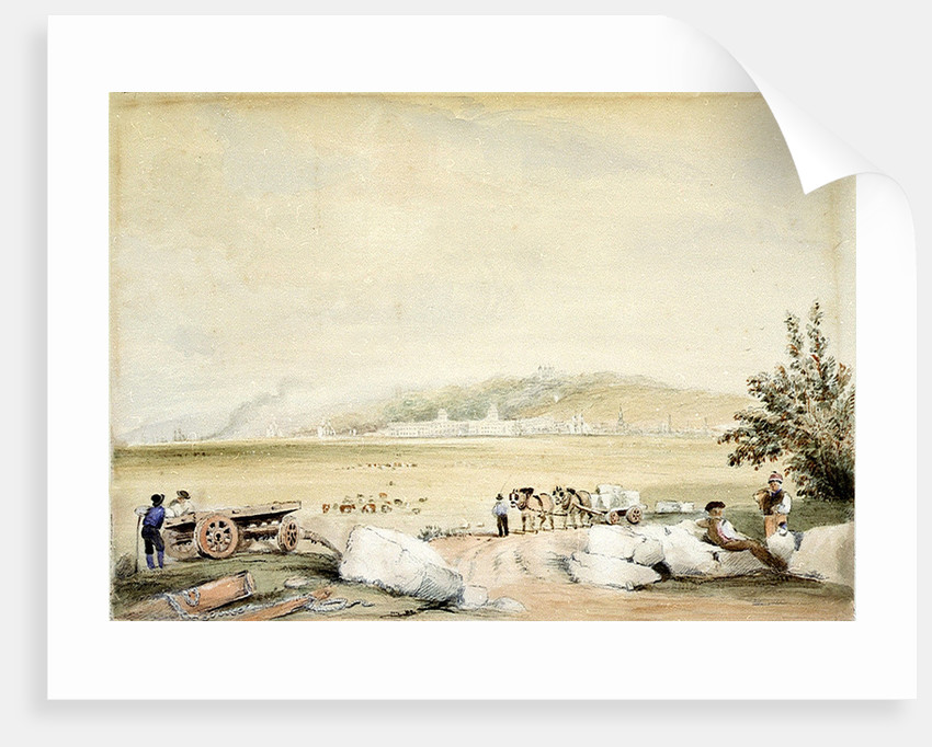 Greenwich from the Isle of Dogs by David Cox
