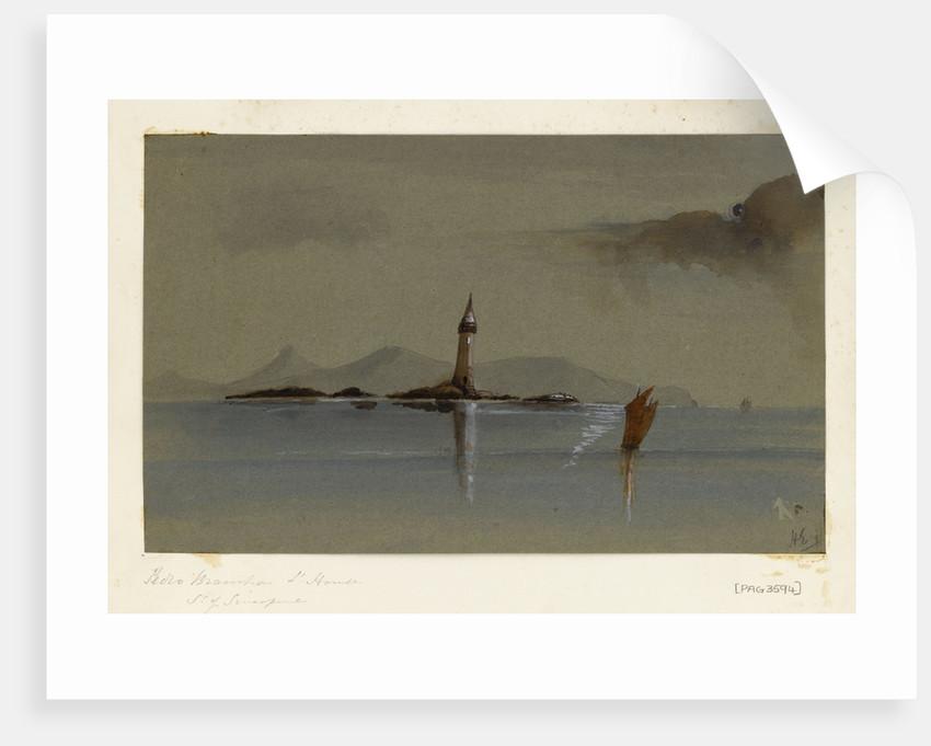 Peolo Brainha Lighthouse Straits of Singapore by Harry Edmund Edgell