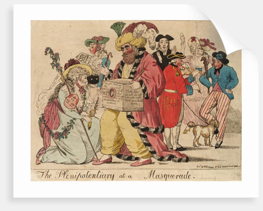The Plenipotentiary at a Masquerade by Isaac Cruikshank