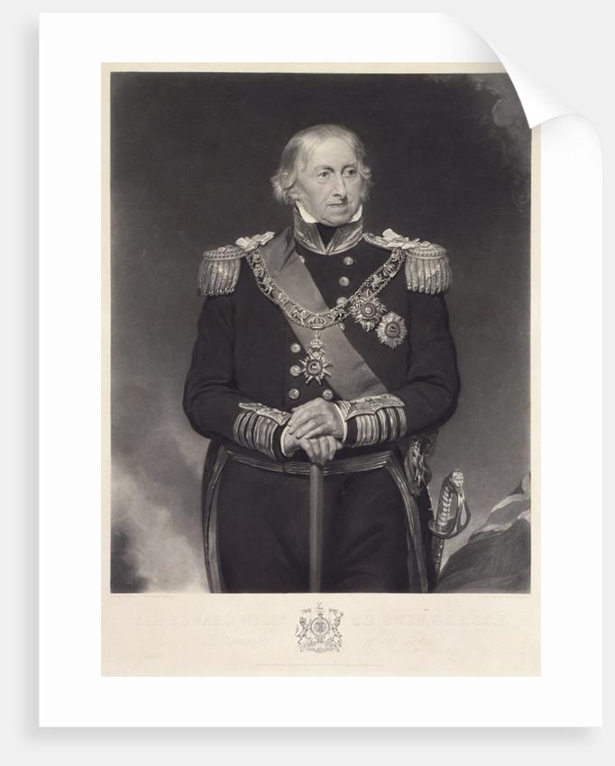 Admiral of the White Sir Edward William C.R. Owen (1771-1849) by Henry William Pickersgill