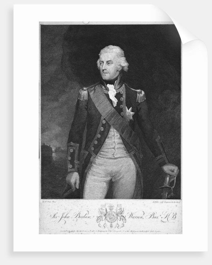Admiral Sir John Borlase Warren (1753-1822) by Mark Oates