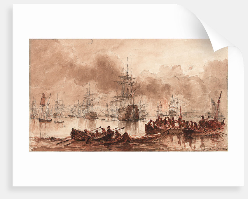 Bombardment of Algiers, 28 August 1816 by Joseph Cartwright