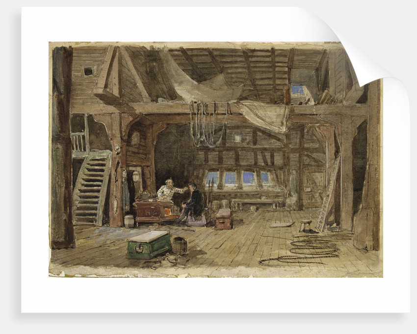 A sail maker's loft by William Roxby Beverley