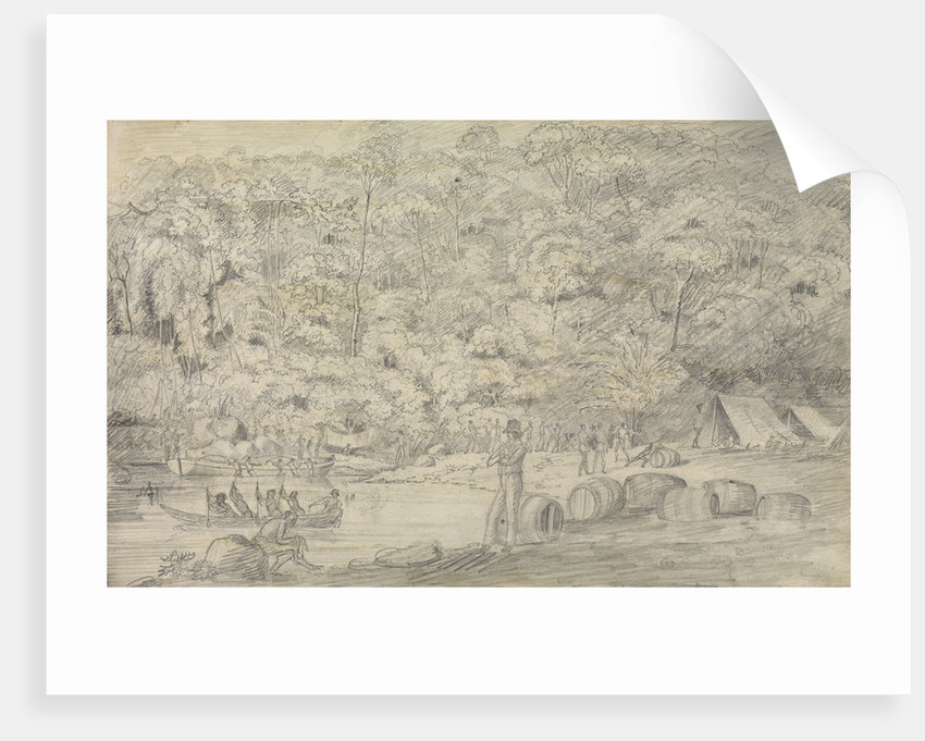Watering at Panoonbangan during British Expedition to Northern Borneo and Java 1811 by unknown
