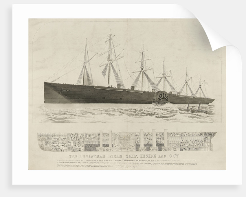 The 'steam ship 'Leviathan' ('Great Eastern') by Read & Co