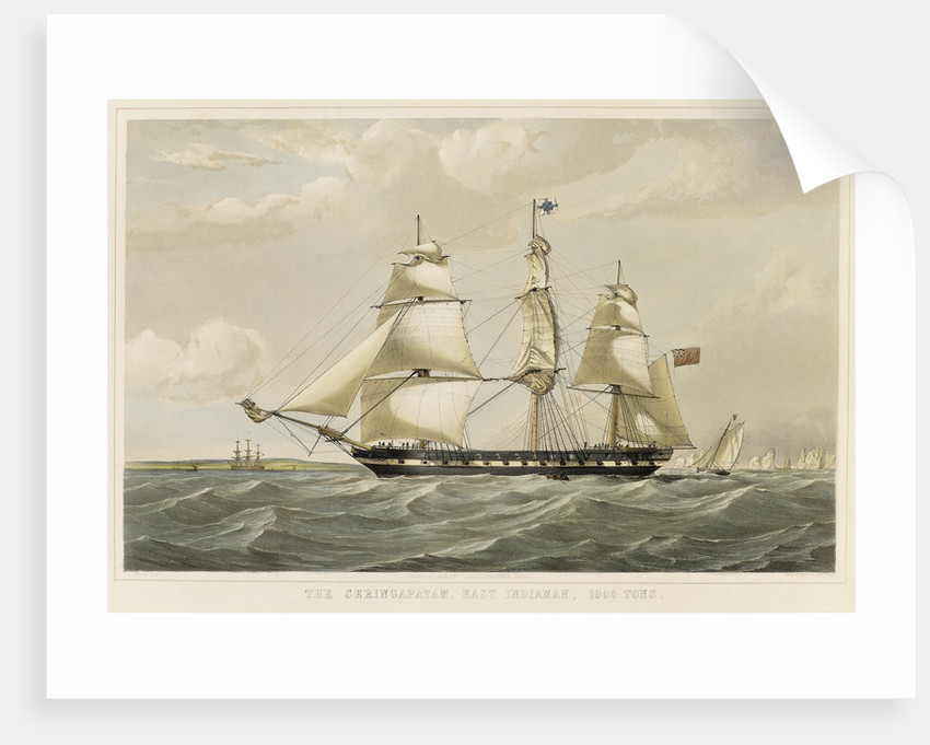 The East Indiaman 'Seringapatam' by Thomas Goldsworth Dutton