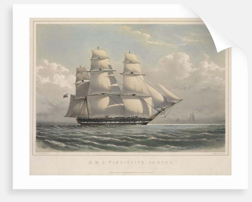 HMS 'Vindictive', 50 guns, in full sail by J.H. Vernon