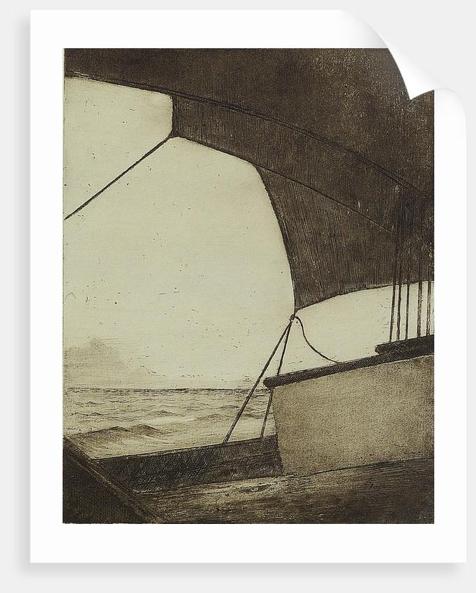 Part of deck and sail by Herbert Barnard John Everett