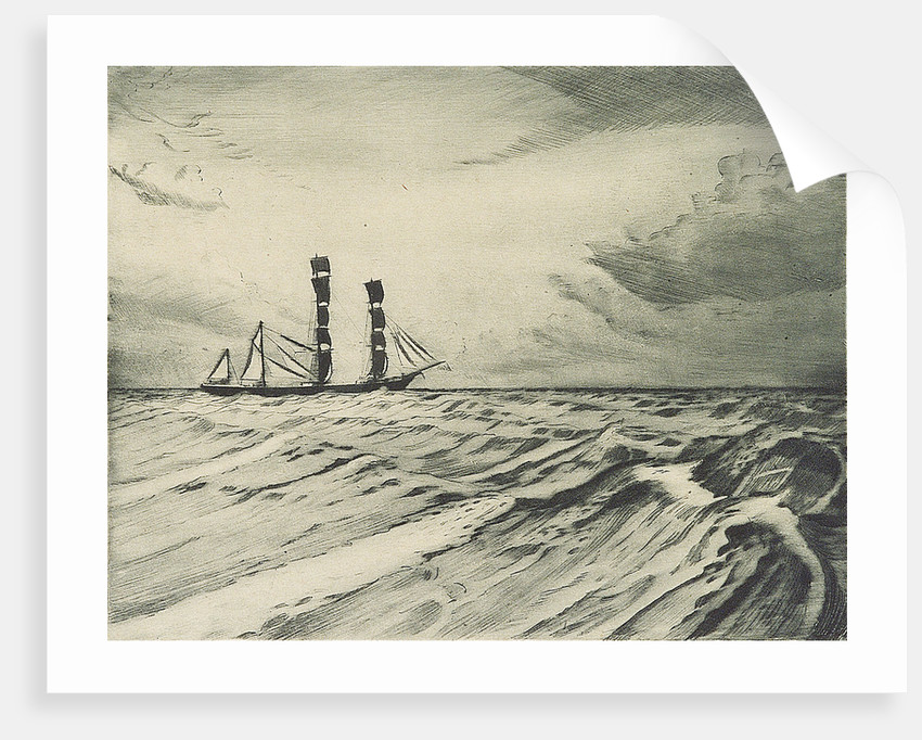 Sailing vessel at sea (1) by Herbert Barnard John Everett