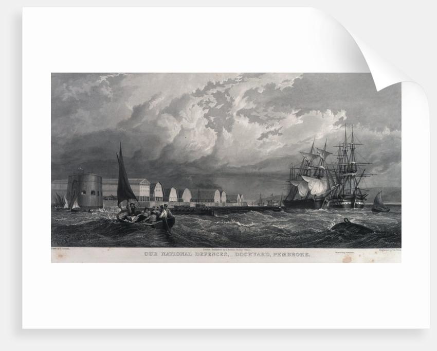 Our National Defences, - Dockyard, Pembroke by Edward Duncan
