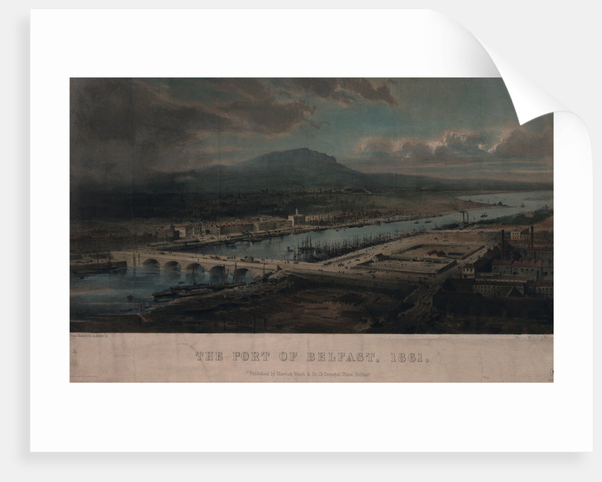 The port of Belfast, 1861 by Marcus Ward & Co