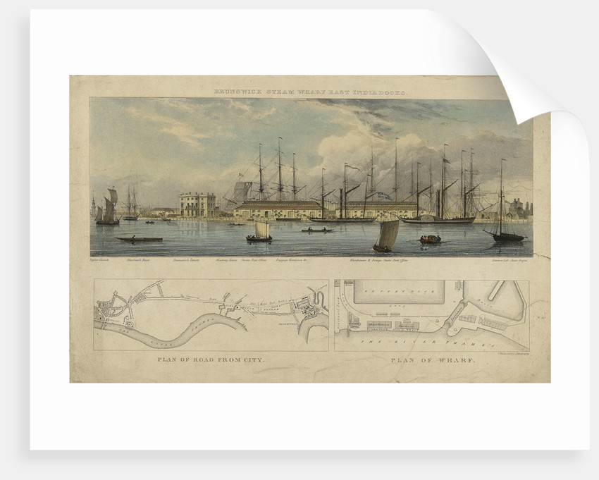 Brunswick steam wharf East India Docks by W.L.W.