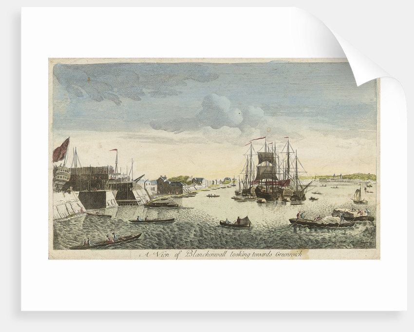 View of Blackwall looking towards Greenwich by J. Heudelot