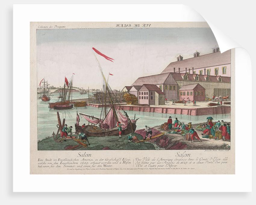 View of Salem, America by Balth Frederic Leizel