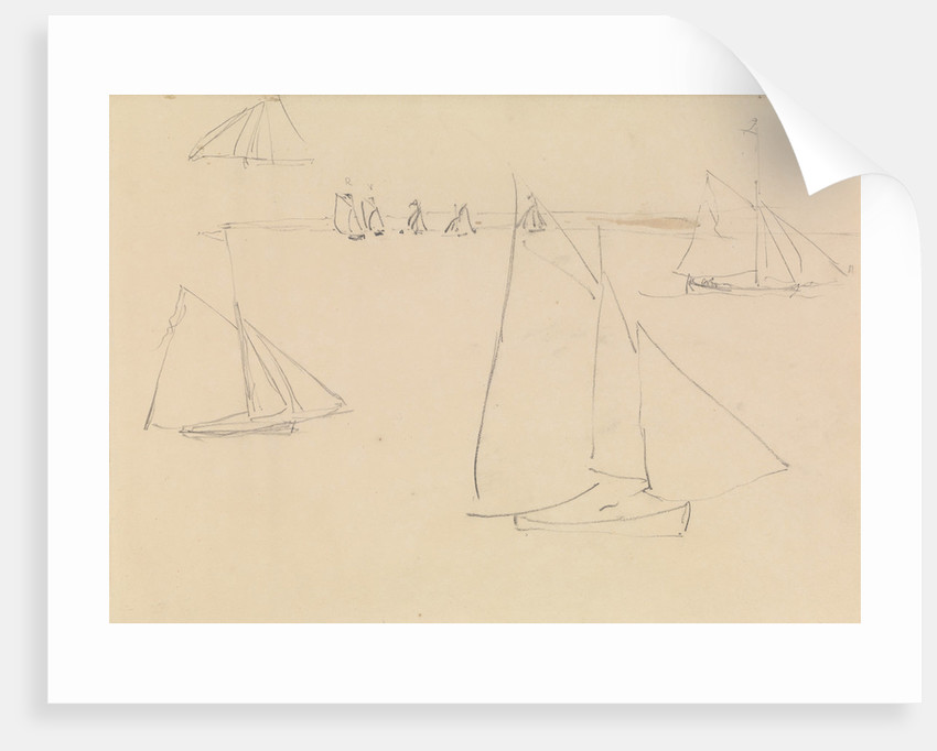 Studies of yachts sailing by John Christian Schetky