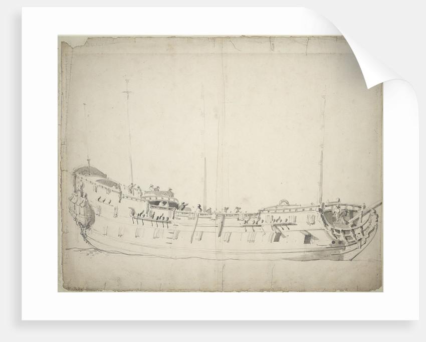 Portrait of the 'Adventure' by Willem Van de Velde the Younger