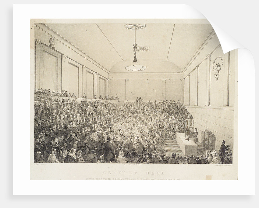 Lecture-Hall of the Greenwich Society for the Diffusion of Useful Knowledge by E. Walker