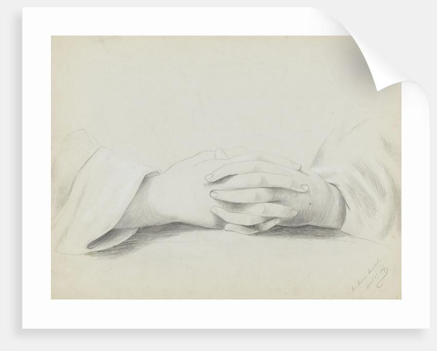 Study of folded hands by Margaret Louisa Herschel
