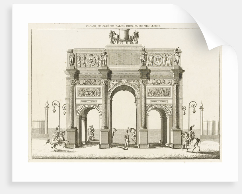 View of the Arc de Triomphe du Carrousel, Paris by Charles Percier
