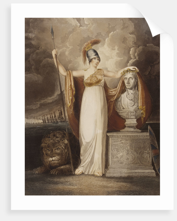 Britannia crowning the bust of our late Hero Lord Nelson by T. Baxter