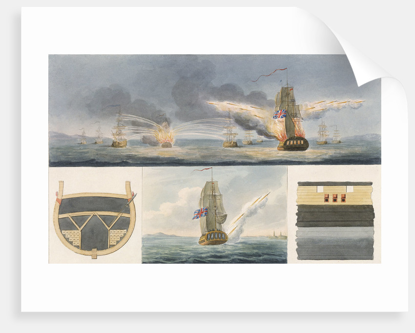 Fireships firing rockets and details of storage and launch by Colonel Congreve
