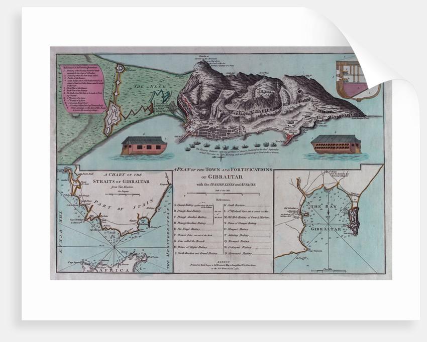 Plan of Gibraltar by Robert Sayer & John Bennett
