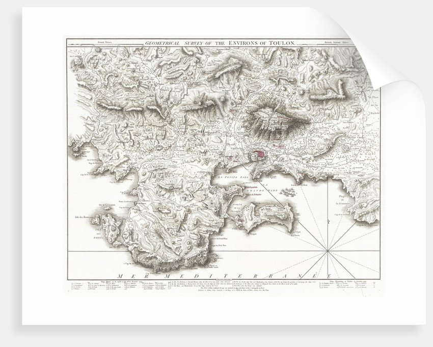 Geometrical survey of the environs of Toulon by Thomas Foot
