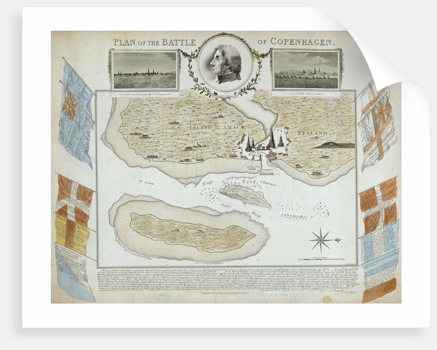 Plan of the Battle of Copenhagen by John Brydon