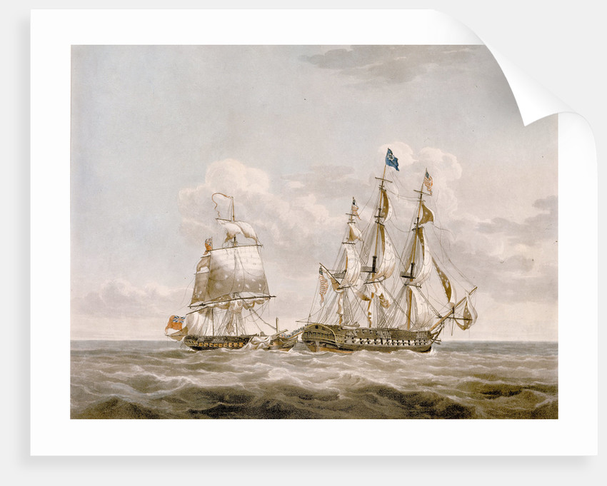 Action between HMS 'Java' and American frigate 'Constitution' by Buchanan