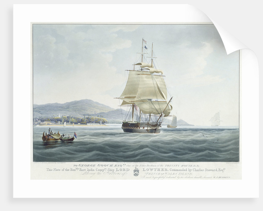 The East India Company's ship 'Lord Lowther', commanded by Charles Steward, leaving the harbour of Prince of Wales island by William John Huggins