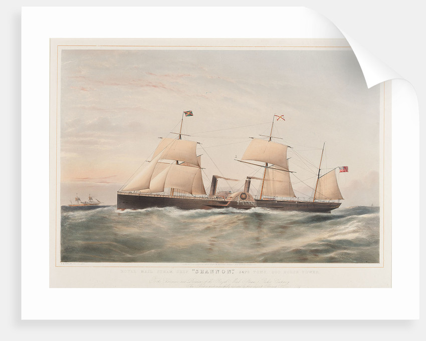 Royal Mail steamship 'Shannon' by Thomas Goldsworth Dutton
