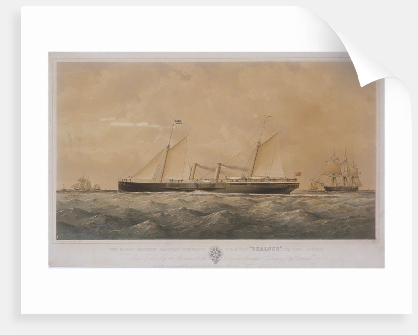 The Great Eastern Railway Company's steam ship 'Zealous' by Thomas Goldsworth Dutton