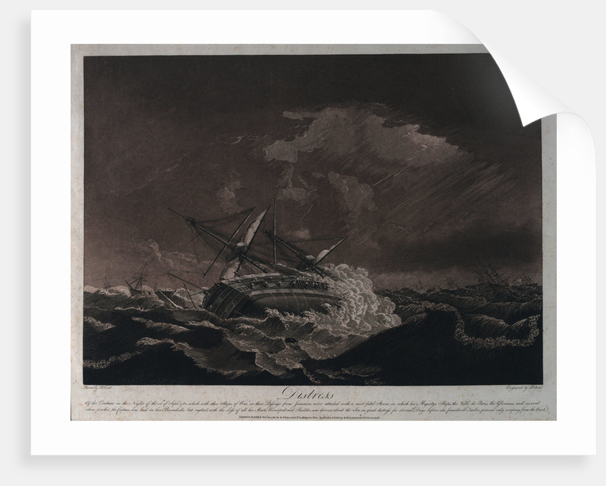 Distress of the 'Centaur' by Robert Dodd