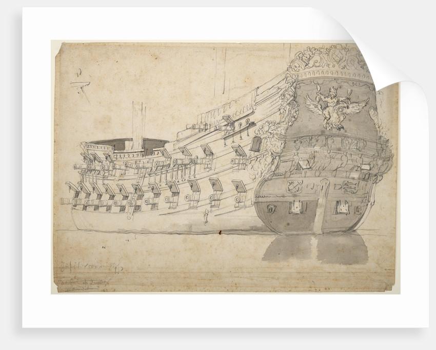 Portrait of the 'Jupiter' by Willem van de Velde the Elder