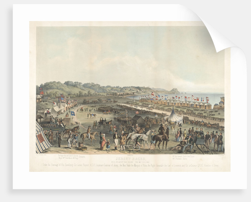 Jersey Races held on Gorey Race Ground the 25 July 1849 by P.J. Ouless