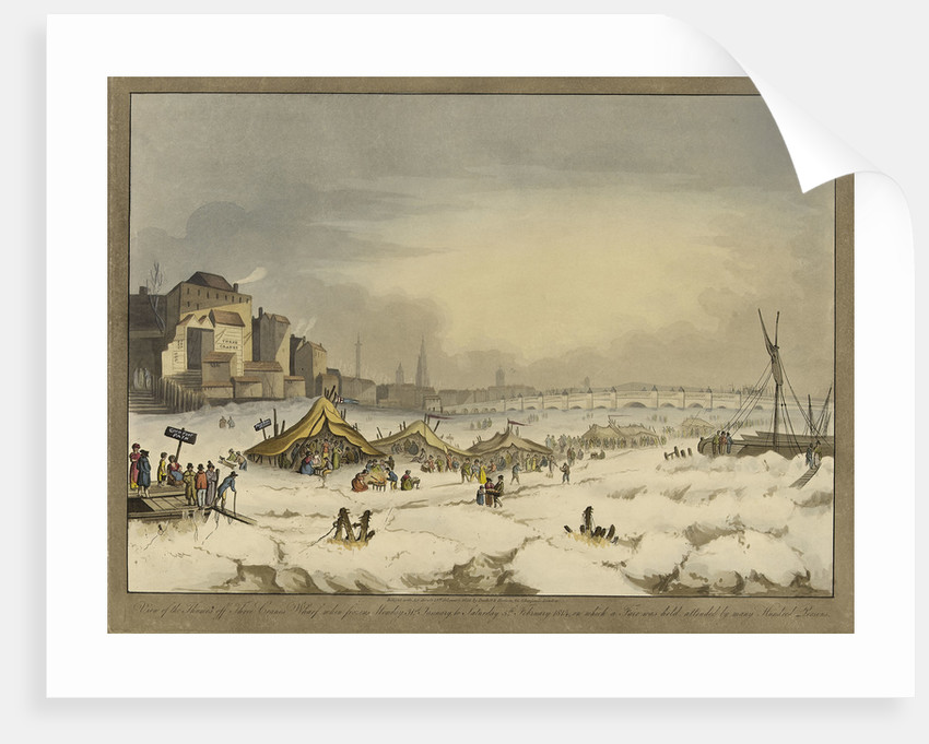 View of the Thames during the last great frost fair during the winter of 1813-1814 by Burkitt & Hudson