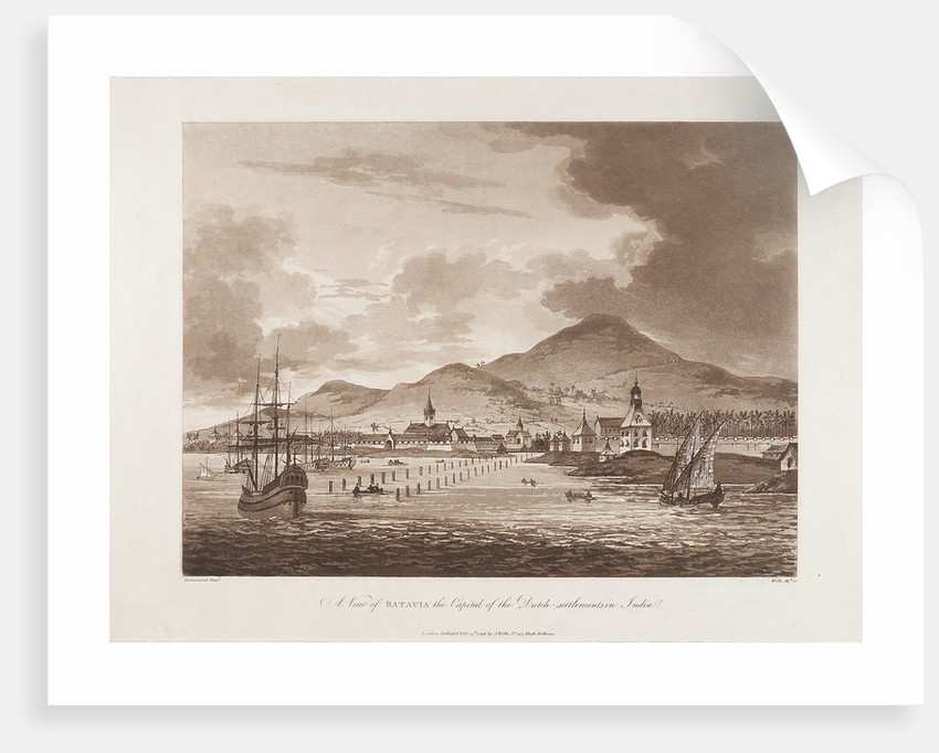 A view of Batavia the capital of the Dutch - settlements in India by Drummond