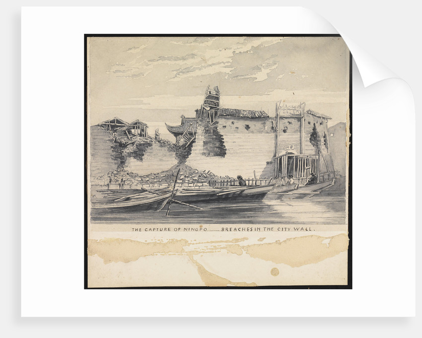 6. Capture of Ningpo - Breaches in the city wall by SSE