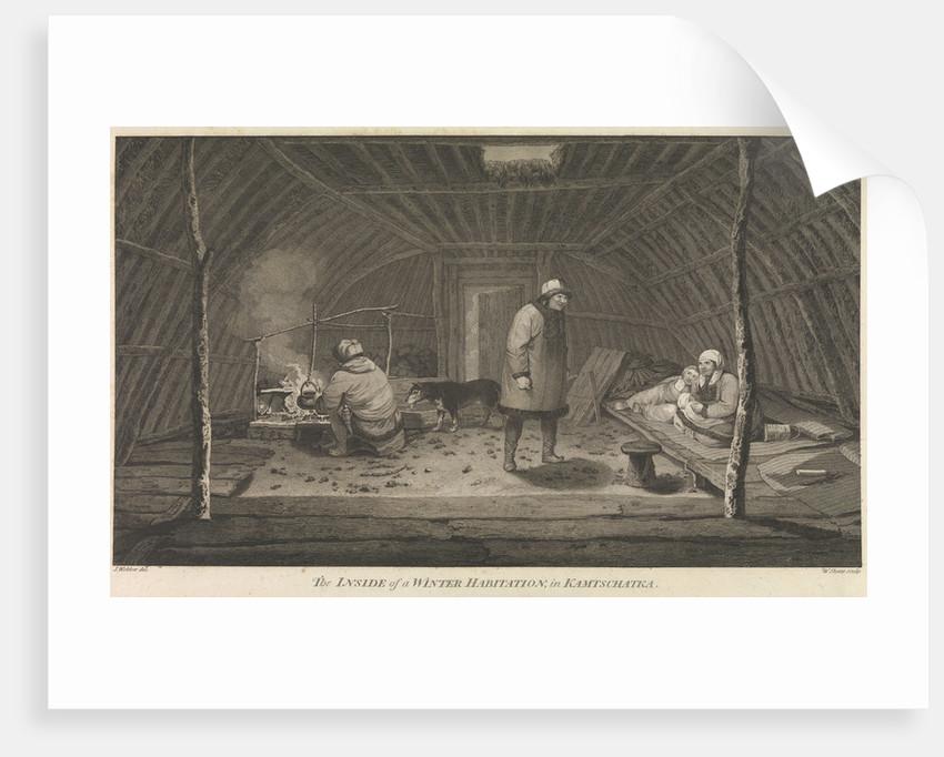 The inside of a winter habitation in Kamtschatka by John Webber