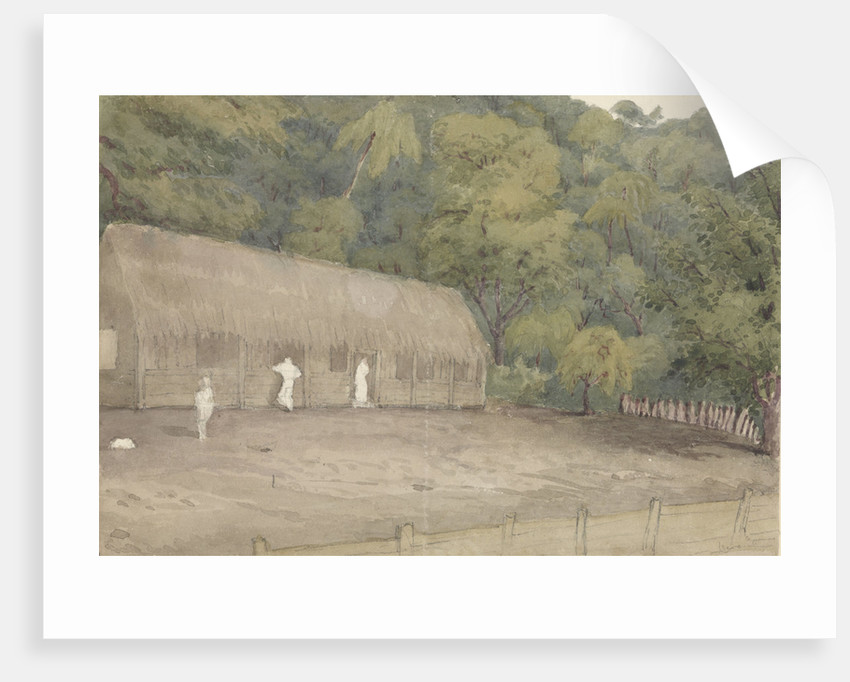 John Adam's house and grave Pitcairn's Island, Augt 12th 1849 by Edward Gennys Fanshawe