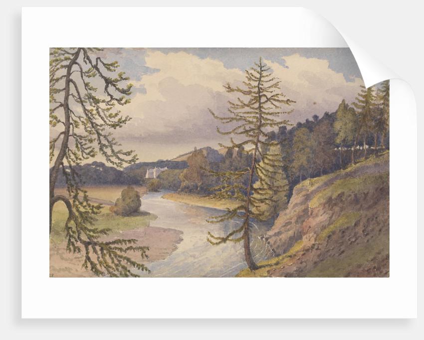 The Leader valley at Cowdenknowes House, Berwickshire, 1843 [Scotland] by Edward Gennys Fanshawe