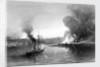 HMS 'Firefly' destroying the magazines at Brandon, Gulf of Bothnia by Thomas Goldsworth Dutton