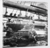 Photograph of an Armstrong breech-loader on 'Narcissus' circa 1859, shows screw at breech by unknown